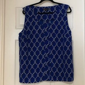 Preston & York Sleeveless Blouse with Cut Outs!!